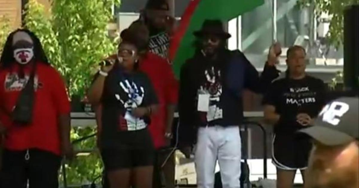 Breonna Taylor's aunt speaks at George Floyd memorial event 1
