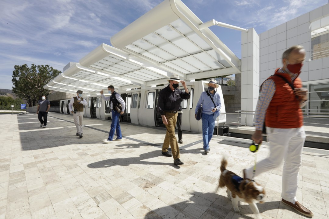 Photos: The Getty Center reopens to visitors for the first time in more than a year 1