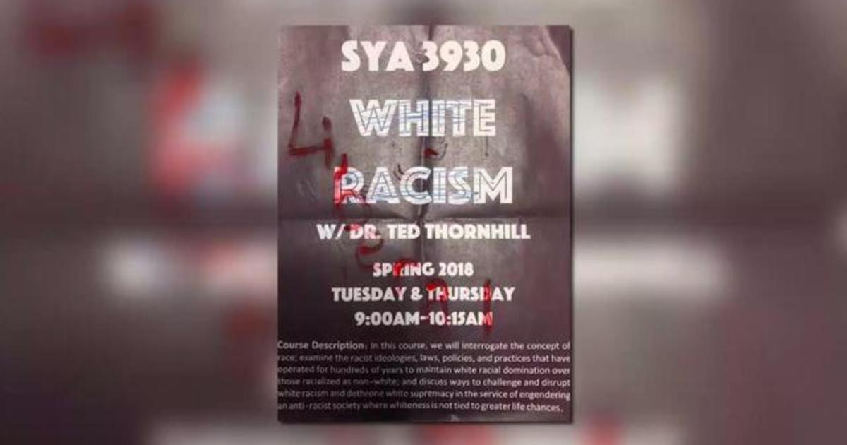 """Police to guard """"White Racism"""" class at Florida university 1"""