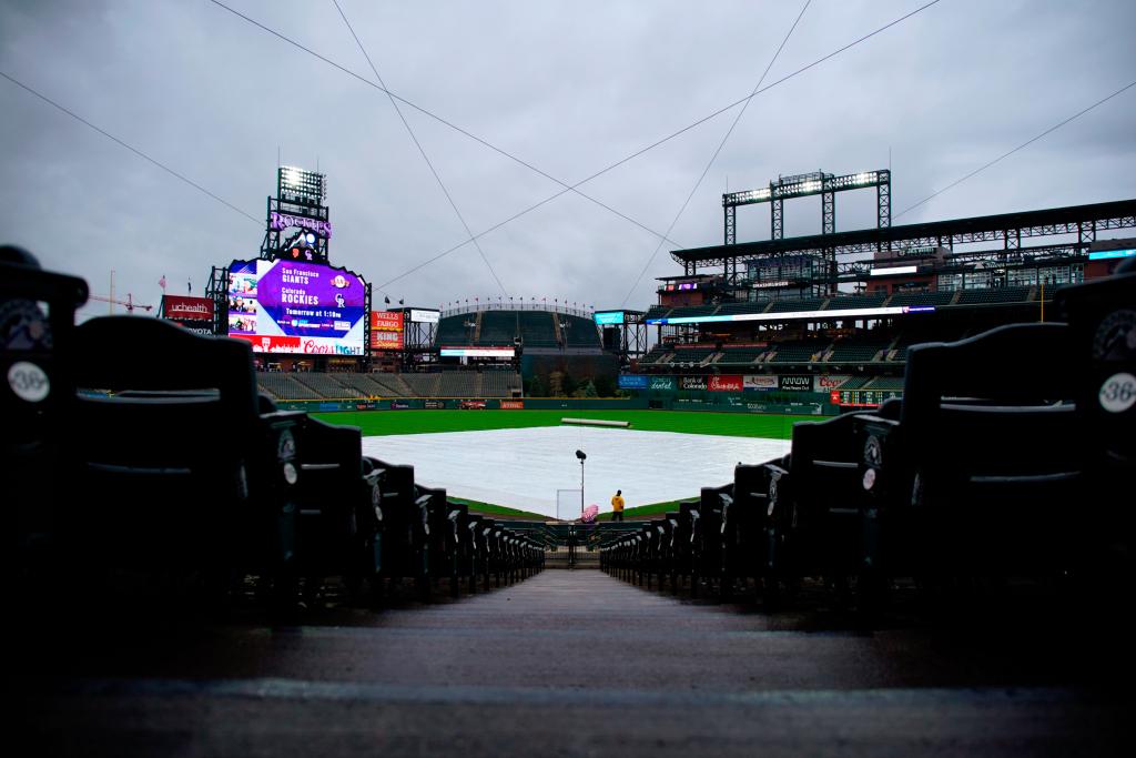 Rockies versus Padres series opener at Coors Field postponed due to inclement weather 1