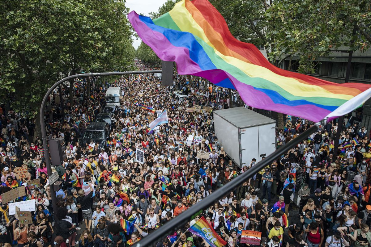 Thousands take to streets in Paris for first Pride march since lockdown 1