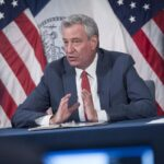 NYC Mayor de Blasio previews 'recovery budget' while protestors demand reduced funding for NYPD 3