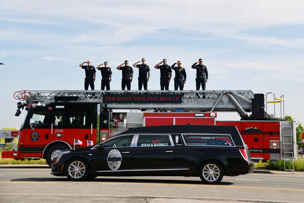 PHOTOS: Slain Arvada police Officer Gordon Beesley mourned with funeral, procession 1