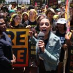 AOC, Bowman join protesters at White House demanding climate action in Biden infrastructure plan 5