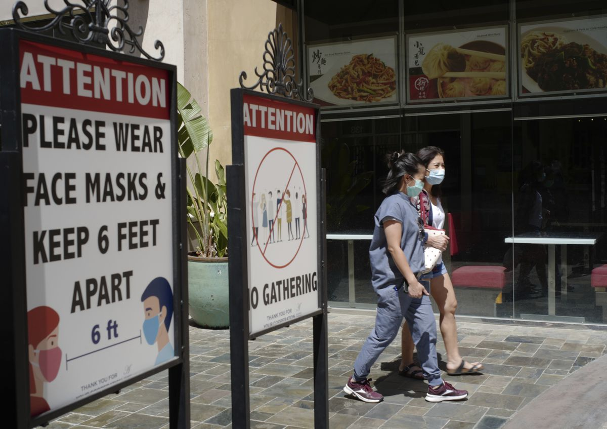 Los Angeles County encourages people to keep wearing masks indoors as Delta variant spreads 1