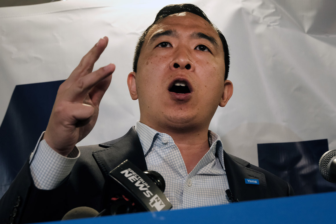 Yang chased by angry protesters during Brooklyn campaign stop 1