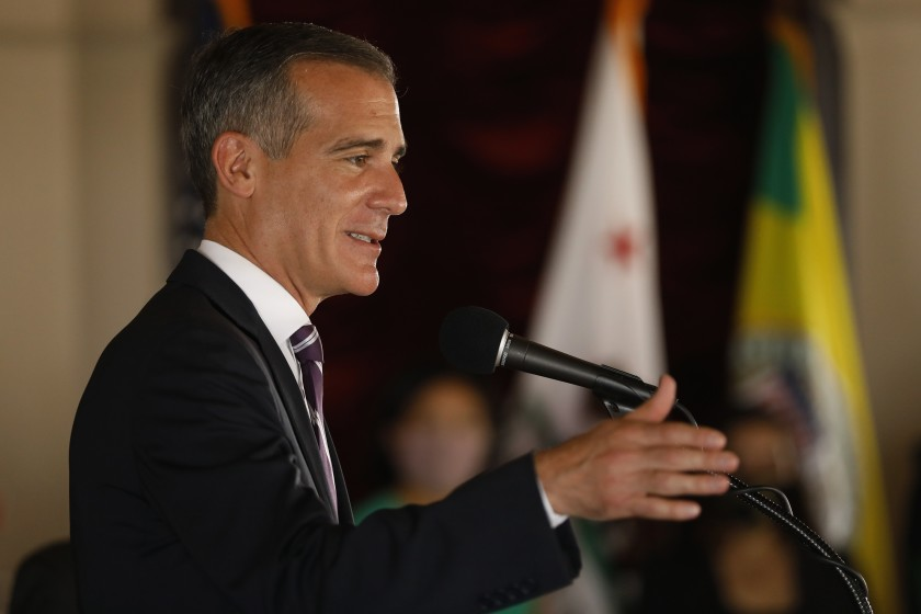 Former Garcetti staffer says an aide's unwanted kissing and touching was 'an open secret' 1