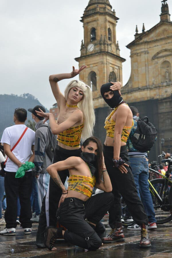The Vogueing Protesters of Bogotá, Colombia 1