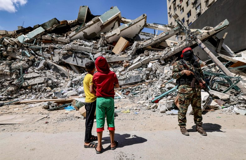 Hamas Used Gaza Office Building to Try and Disrupt Iron Dome, Israel Says 1