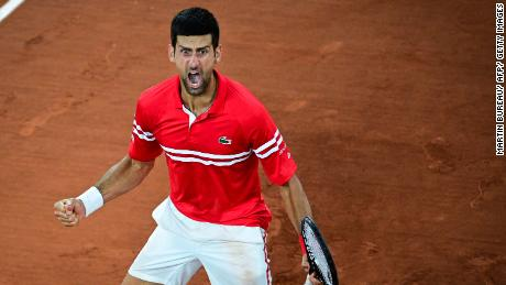 Novak Djokovic lets out guttural scream after setting up French Open semifinal against Rafael Nadal 1