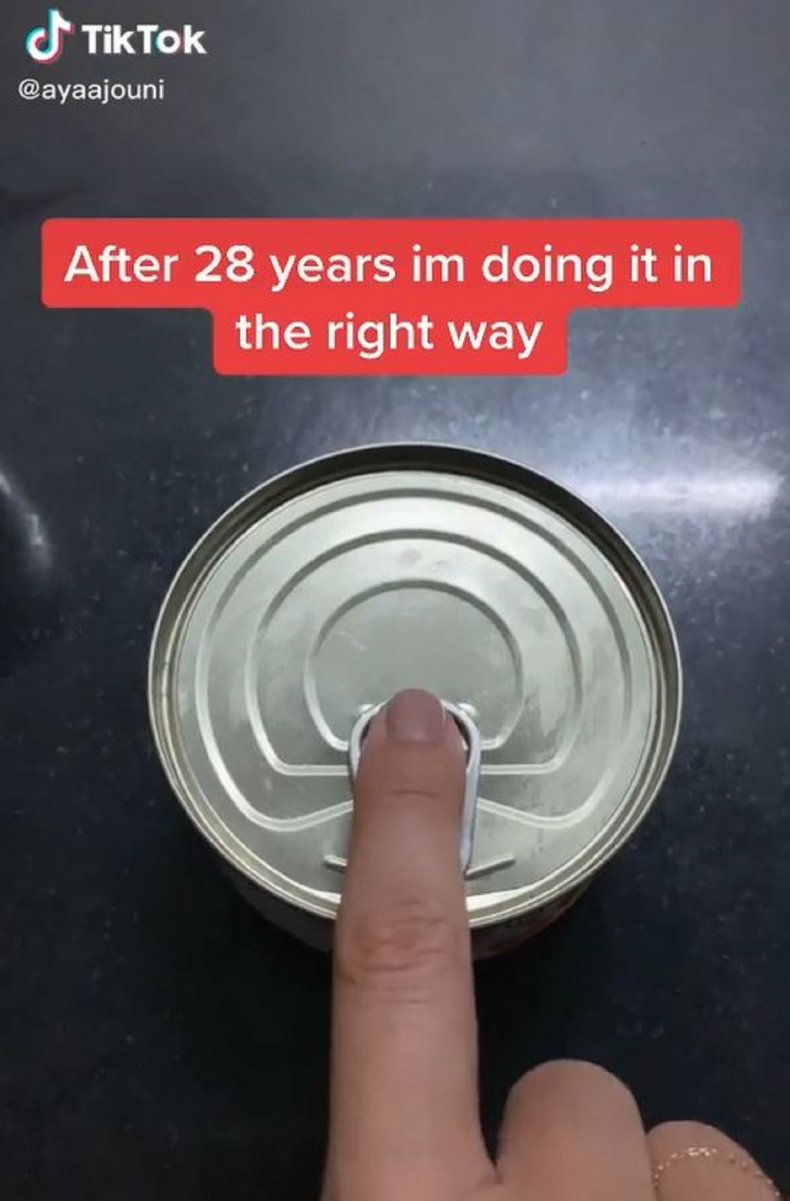 Woman Reckons We've Been Opening Cans Wrong As She Shares 'Right' Way 1