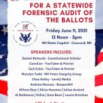 Patriots To Rally For An AUDIT At New Hampshire State Capitol on Friday June 11 6