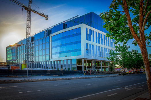 Modern office building next to San Jose's Santana Row is completed, ready for tenants 1