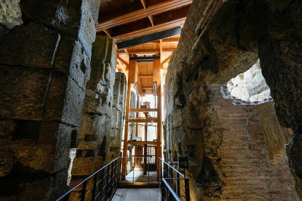 Colosseum Opens Its Belly to the Public 1