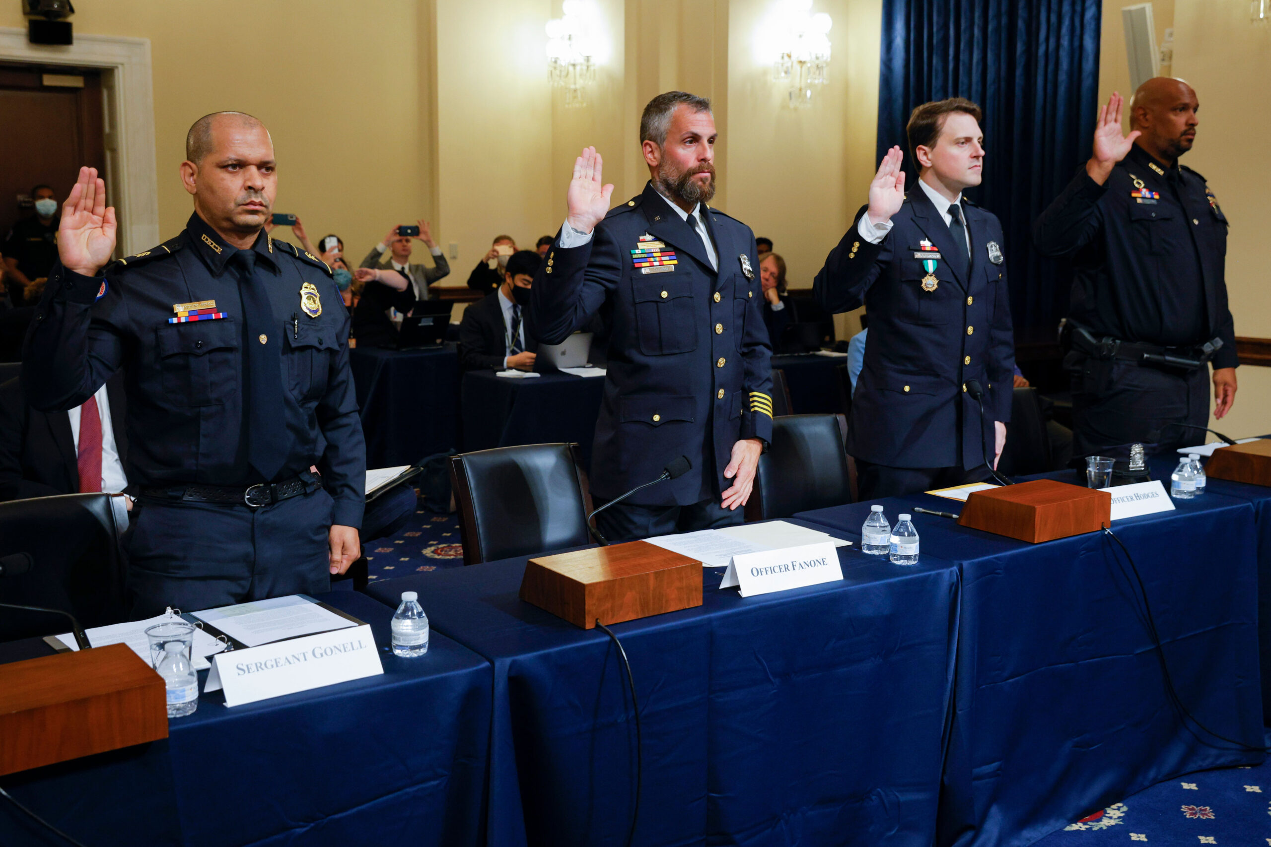 Harry Dunn joined other Capitol Police officers urging the Jan. 6 committee to investigate whether 'anyone in power' aided events leading to the attack 1