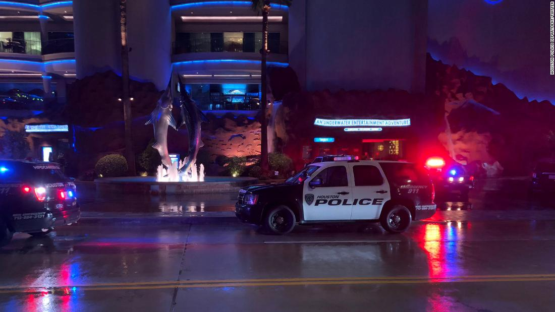A man is dead and a woman injured after gunman opened fire on pair dining at a Houston restaurant 1