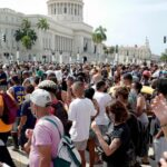 Thousands of protesters take to the streets in Cuba 7
