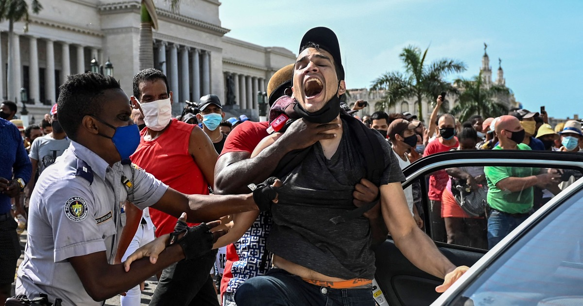 Cuban president defiant, blames embargo after protests 1