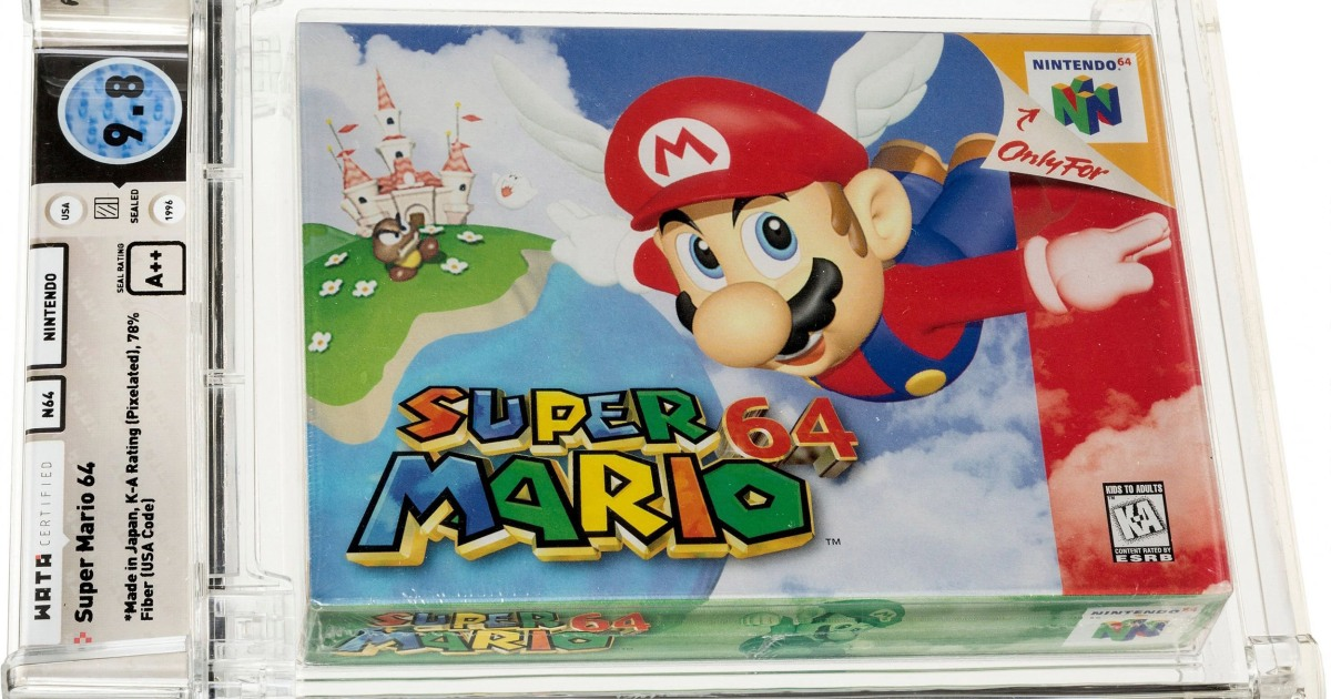 Unopened Super Mario 64 game from 1996 sells for $1.56M 1