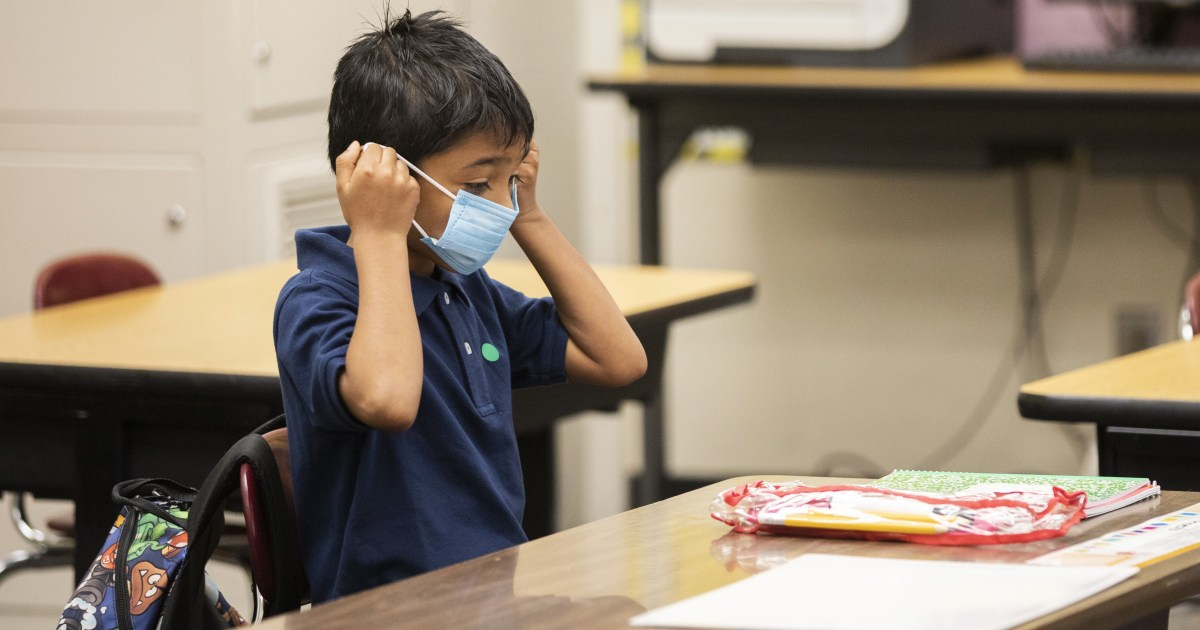 CDC recommends masks for all K-12 students, even those who have been vaccinated 1