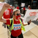 Chicago Teachers Union protest outside CPS headquarters 5