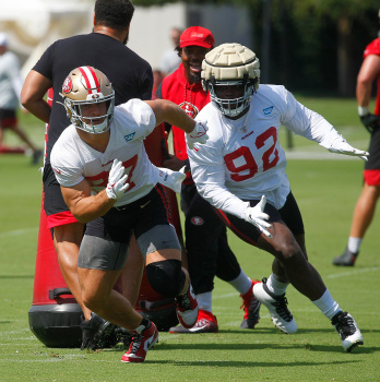 49ers' Nick Bosa undecided on COVID vaccine, on track to play in season opener after ACL tear 1