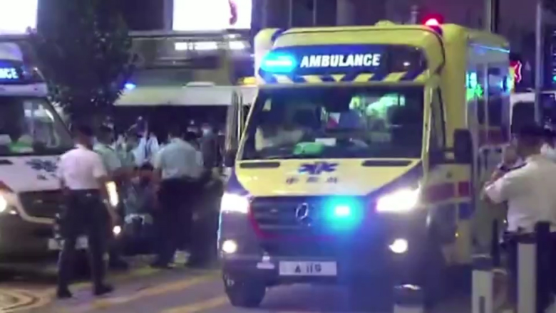 A man stabbed a Hong Kong police officer. Now people are calling him a hero 1