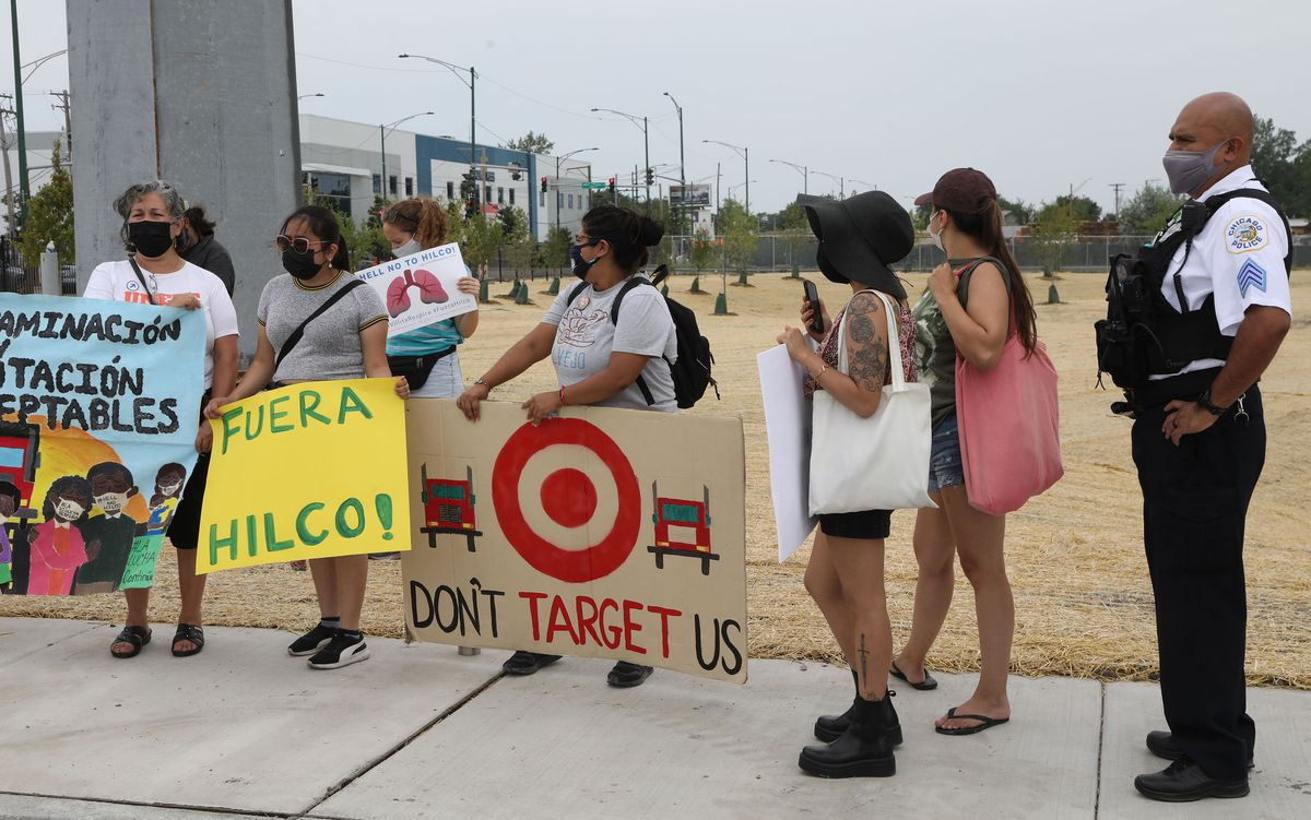 Little Village residents protest opening of Target warehouse they say will create more pollution because of added diesel truck traffic 1