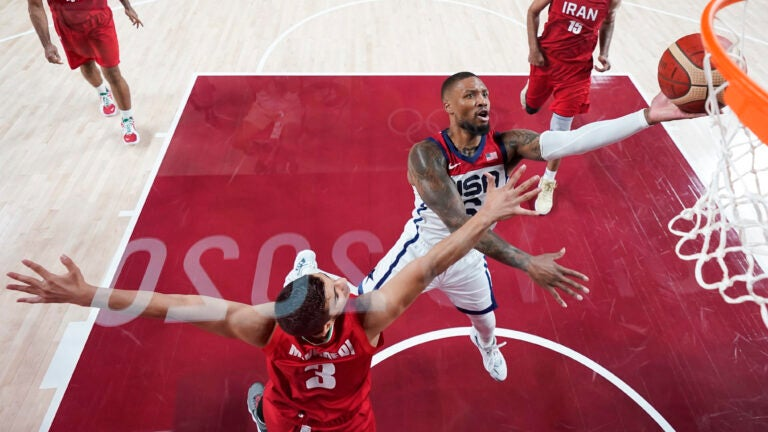 US bounces back from Olympic-opening loss, routs Iran 120-66 1