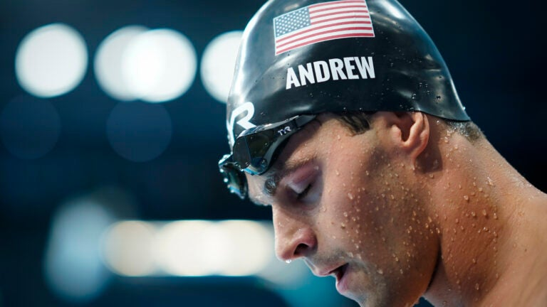US swimmer Andrew goes maskless behind scenes at Olympics 1