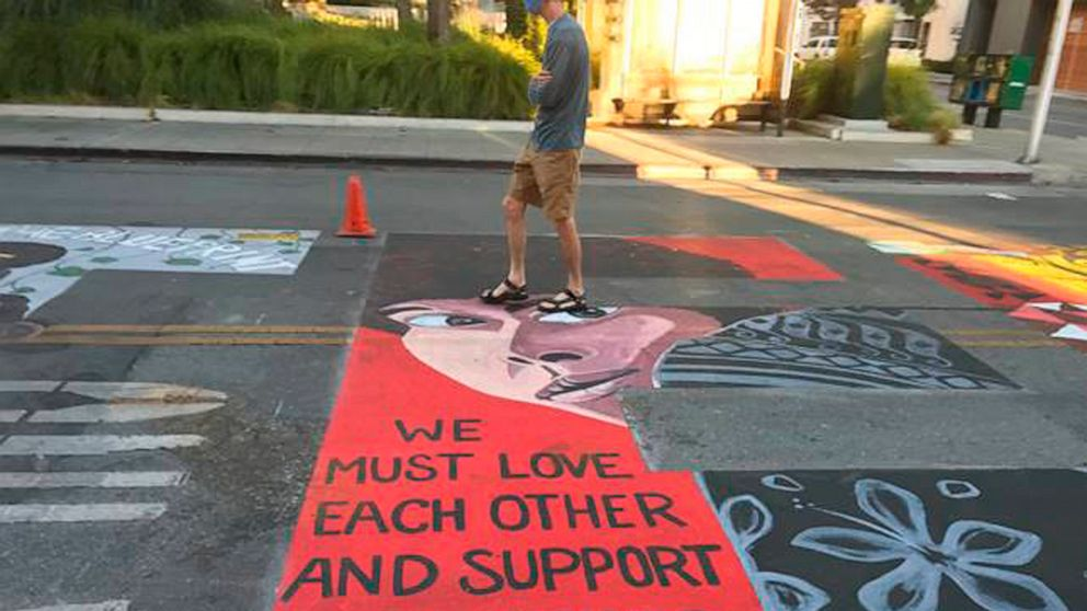 Officers sue California city over Black Lives Matter mural 1