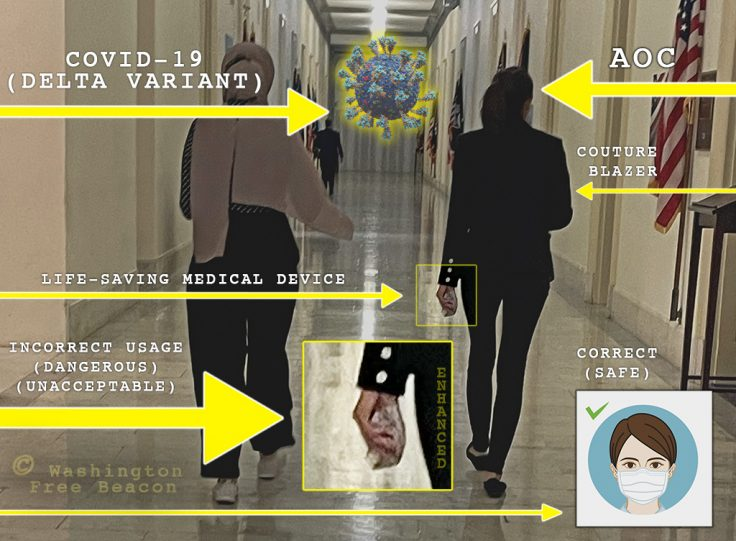 BUSTED: Habitual Parking Violator AOC Shuns Pelosi's Mask Mandate, Puts Lives at Risk 1