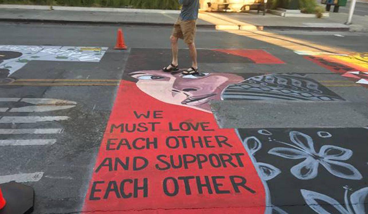 Officers sue Palo Alto, California over Black Lives Matter mural 1