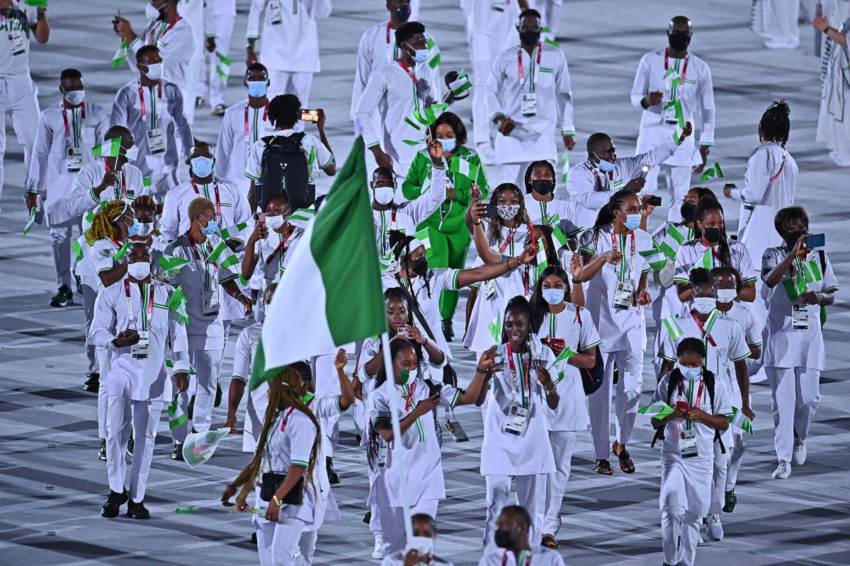 Nigerians banned from Olympics for missed doping tests protest in Tokyo 1