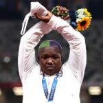 IOC suspends action on Raven Saunders' podium protest after her mother's death 6
