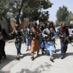 Taliban militants violently disperse rare Afghan protest 3