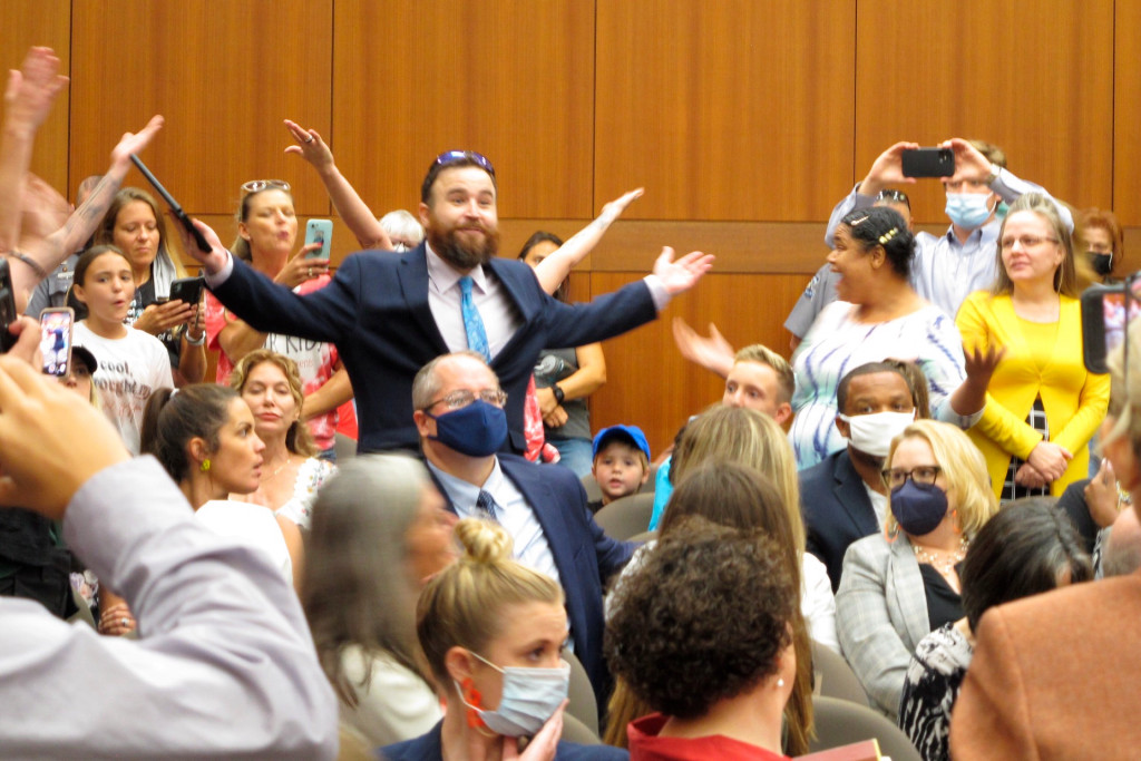 Louisiana education hearing ended by maskless parents 1
