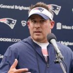 Here's what Josh McDaniels said about Cam Newton and Mac Jones at Patriots camp 8