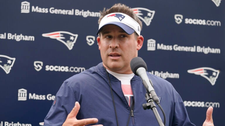 Here's what Josh McDaniels said about Cam Newton and Mac Jones at Patriots camp 1