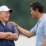 Bill Belichick embraces Tedy Bruschi's returns to Patriots training camp practices 8