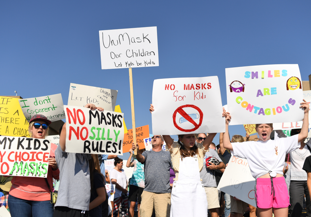 Jeffco parents protest mask mandate for students ages 3-11 1