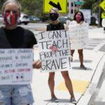 Police Intervene as Sides Clash After Florida School District Announces Mask Mandate 5