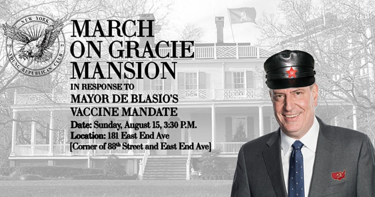 New York Young Republicans Plan To Rally Outside De Blasio's House To Protest His Vaccine Passport Plan 1
