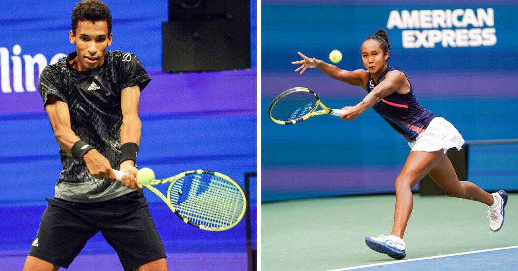 Canada's Felix Auger-Aliassime and Leylah Fernandez Arrive at U.S. Open 1