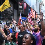 Times Square stormed by anti-vaxxers protesting in NYC 6
