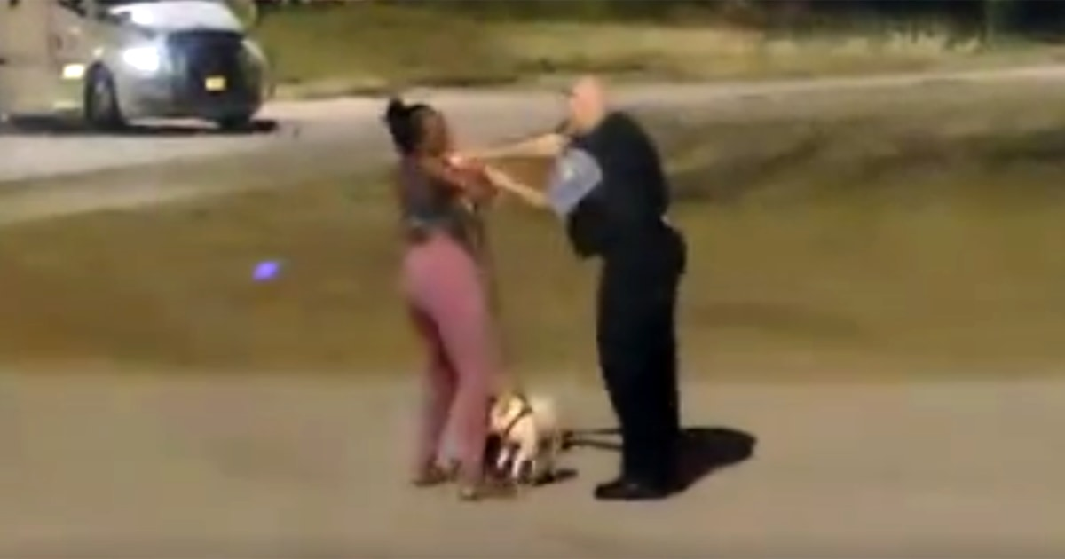 Videos capture encounter between Chicago officer and Black woman walking a dog 1