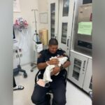 Officer catches a 1-month-old baby dropped from 2nd floor balcony, authorities say 8