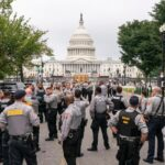 Heavy police presence as protesters trickle in for DC rally 7