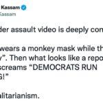 Disturbing: Woman in Gorilla Mask Hurls Eggs, Obscenities at Black GOP Candidate Larry Elder as Reporter Laughs 5