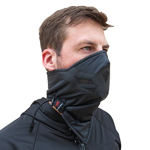Half Face Mask for Cold Winter Weather. Use This Half Balaclava for Snowboarding, Ski, Motorcycle. (Many Colors) (Black)